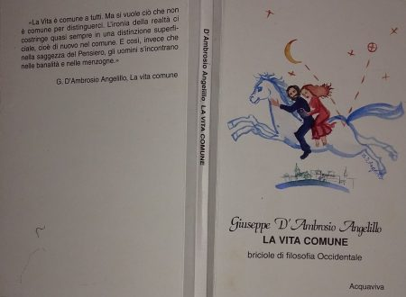 GIUSEPPE D'AMBROSIO ANGELILLO – LA VITA COMUNE. BRICIOLE DI FILOSOFIA OCCIDENTALE