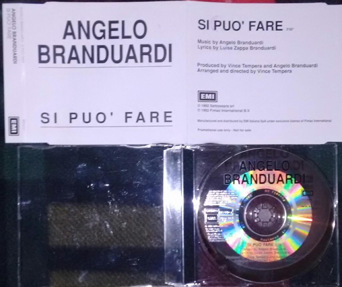 ANGELO BRANDUARDI - SI PUÒ FARE (CDS 1 TR)