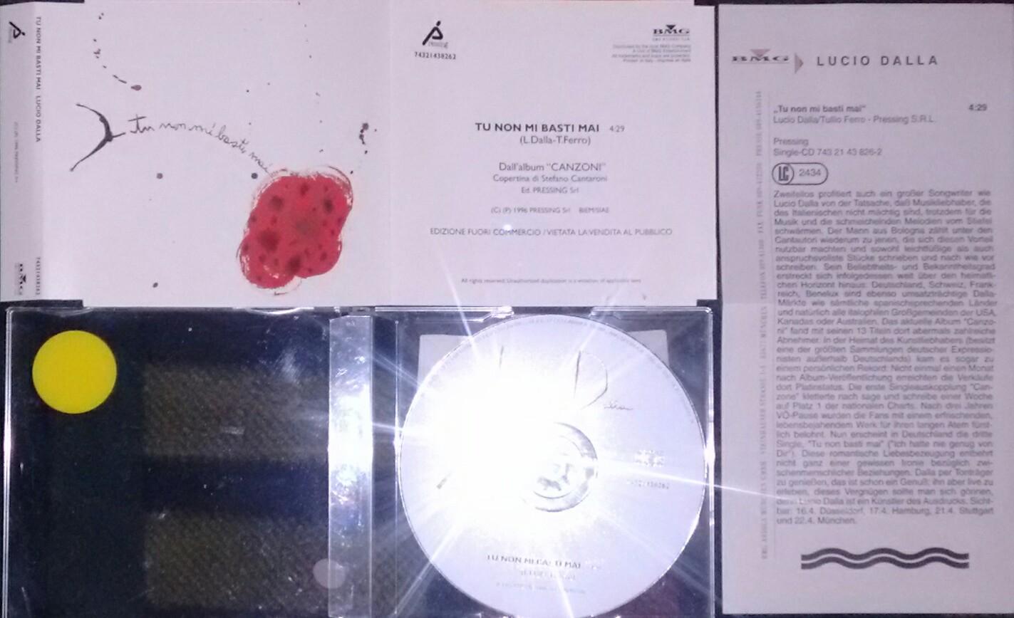 LUCIO DALLA - TU NON MI BASTI MAI (CDS 1 TR)